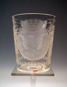 ANTIKES-GLAS-GROSSER-ROKOKO-BECHER-ROCOCO-BEAKER-BOHMEN-BOHEMIA-UM-1794-RARITY