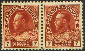 CANADA-1924-114-King-George-V-Pair-Unused-LH-OG