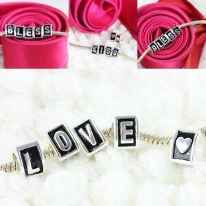 5Pcs-Silver-Alphabet-Letter-Triangle-European-DIY-Hole-Beads-Charms-Fit-Bracelet