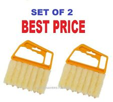 2 X 7SLAT VENETIAN BLIND CLEANER BRUSH DUSTER BLINDS EASY CLEANING WASHABLE NEW