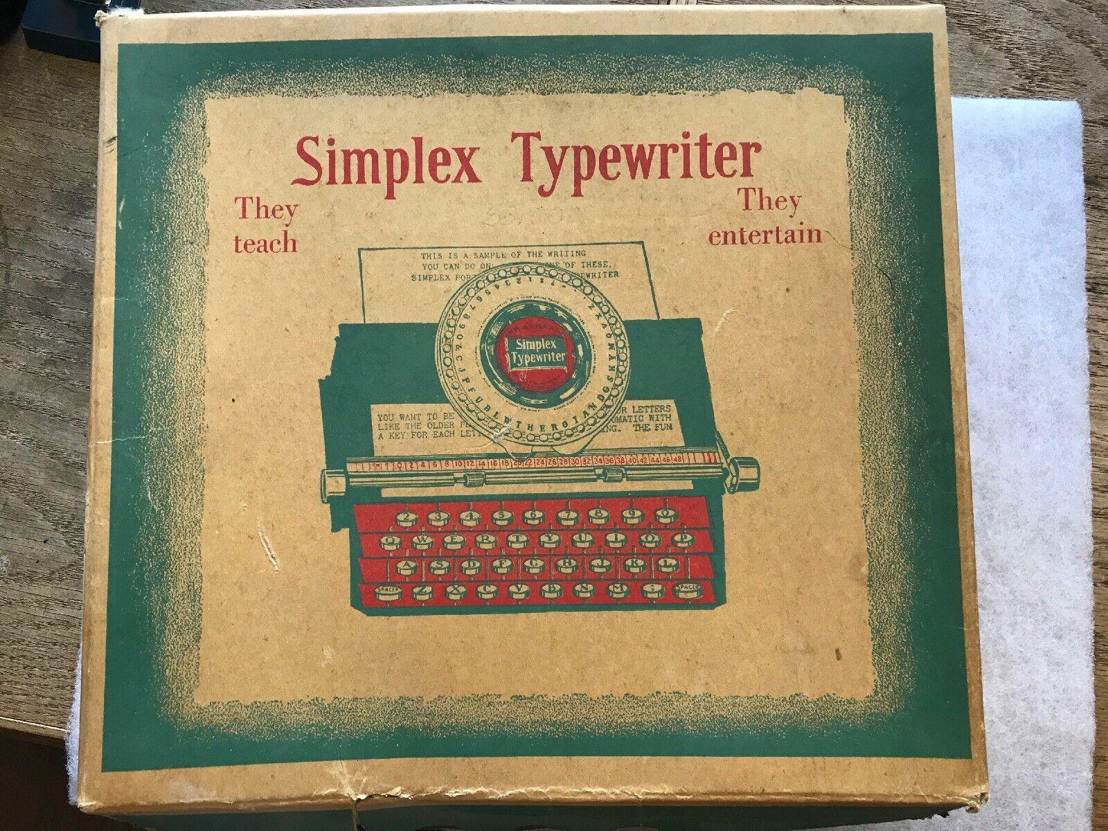 ofreciendo 100% Máquina de escribir Simplex Tin Tin Tin número 300, alrojoedor de 1915 en Caja Original  muchas concesiones