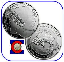 2015 Sioux Indian Buffalo $1 Silver 1 oz BU Coin//Round Native American Mint