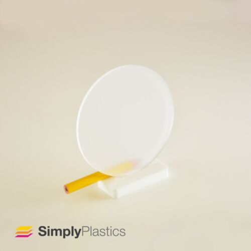 Multi-packs Perspex® Laser Cut Frosted Clear Acrylic Plastic Disc Circle