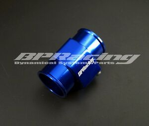 40mm Blue Water temp Gauge Radiator Hose Sensor Adaptor / Temp Gauge Joint Pipe