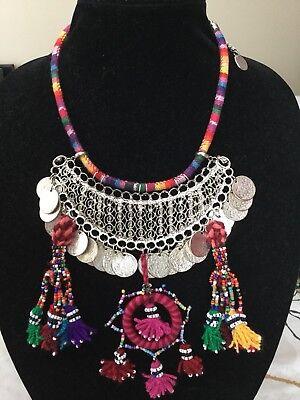 4 Colours Ethnic Arabian African Bedouin Berber Belly Dance Tribal /'U/' Necklace