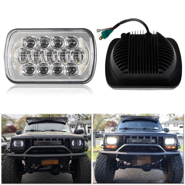 2pcs 5x7 7x6 Beam Led Headlight Replacement For Jeep Cherokee Xj