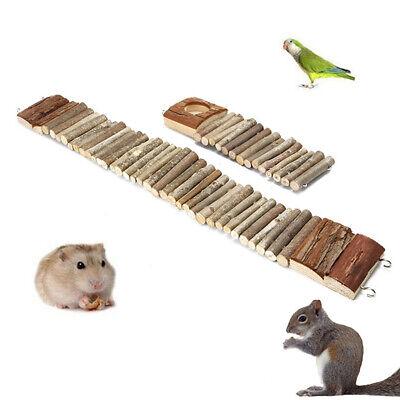 Wood Bridge for Hamster Mice Pet Ladder Bridge Steps Wooden Mouse Rat Hamster Parrot Cage Play Pet Toy Pet Ladder for Small Animal 7cm*27cm,2PCS