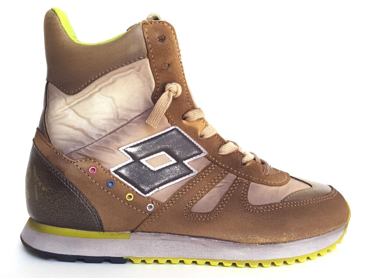 Schuhe Sneaker Lotto Leggenda Tokyo NY W Damenschuhe MID colore sand marrone Q8433