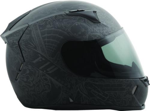 Revolt Ink/'n Needle Helmet Matte Black//Gunmetal Lg Fly Racing 73-8365L