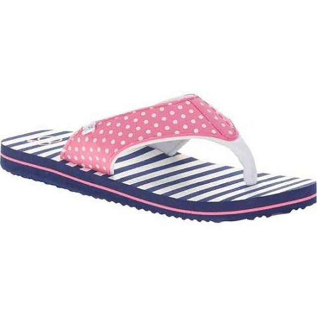 49035783cb4a6e Ocean Pacific Girls Flip Flops Size Large 2-3 Pink White Dot Straps ...