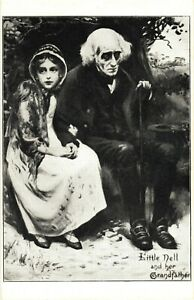 Little Nell And Her Grandfather, The Old Curiosity Shop Characters Postcard