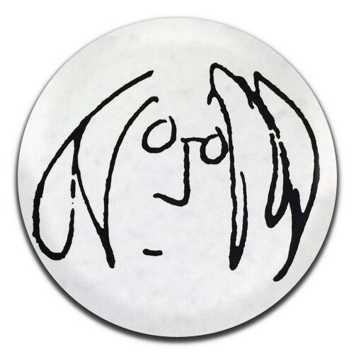 1 Inch D Pin Button Badge John Lennon Drawing Sketch Beatles Hippie 25mm