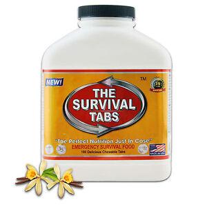 Emergency-survival-180-tablets-Gluten-Free-Non-GMO-25-Years-Shelf-Life-vanilla
