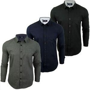 Para-Hombre-Franela-Camisa-por-Pato-Y-Cubierta-039-Katlego-039-Manga-Larga