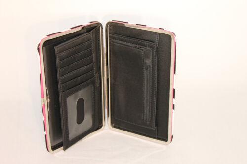 Zebra Print Designer Flat Wallet with Pink Trim 196