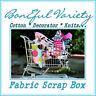 BonEful Fabric VARIETY SEW Quilt L SCRAP BOX Knit Cloth Barbie Girl Doll Clothes