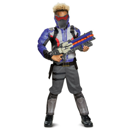 Soldier 76 Overwatch Boy/'s Large 10-12 Muscle Halloween Costume
