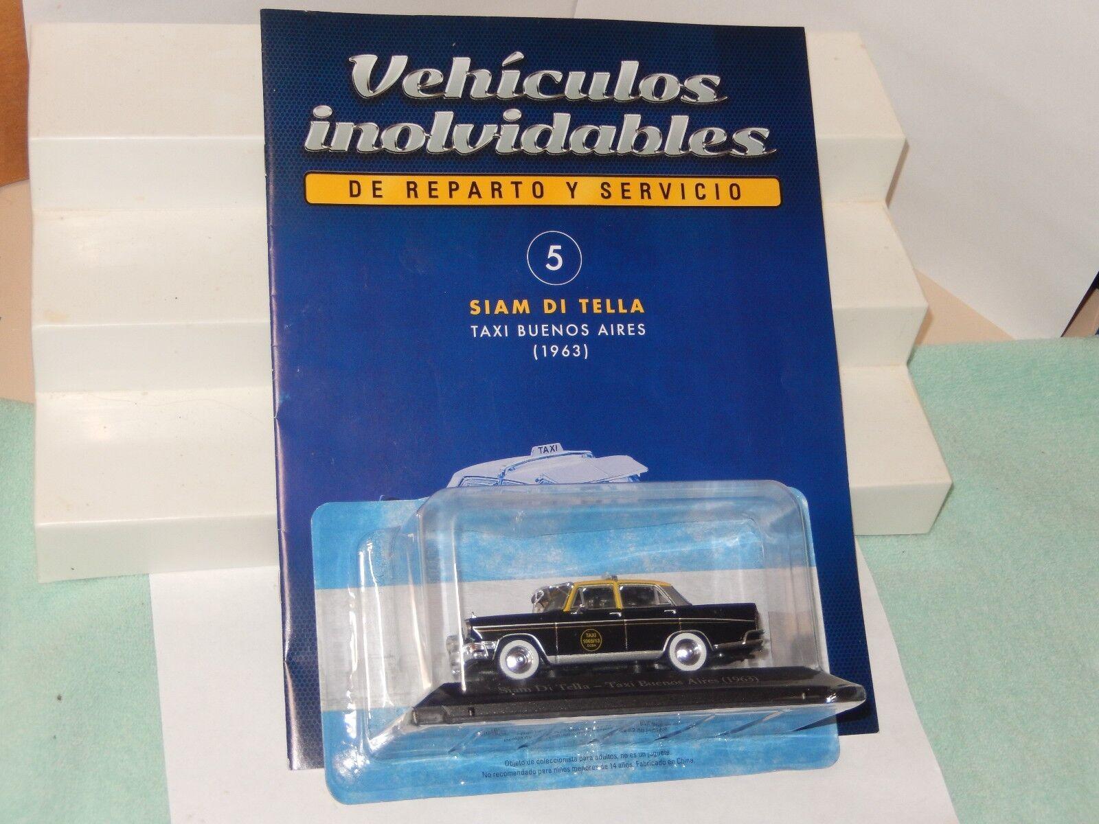 1963 siam di tella taxi buenos aires druckguss auto Silberinien neue 1   43 us - verkäufer