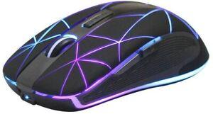 Mouse da Gioco senza Fili Ricaricabile Wireless per Gaming con LED, 1600 DPI