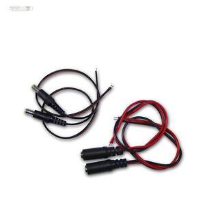 2 Paar DC-Steckverbin<wbr/>der mit 30cm Kabel, Buchs/Kupplung + Stecker 5,5x2,1mm