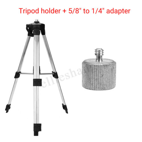 Nivellierstativ Teleskop Stativ 5//8/'/'-1//4/'/' Adapter für Laser Nivelliergerät