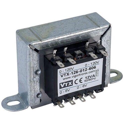 Vigortronix VTX-126-012-606 Chassis trasformatore di alimentazione 12VA 0-6V