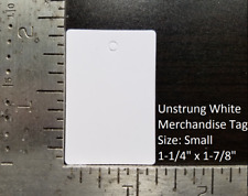 Blank White Garment Price Tags Unstrung Merchandise Jewelry Coupon Store Small