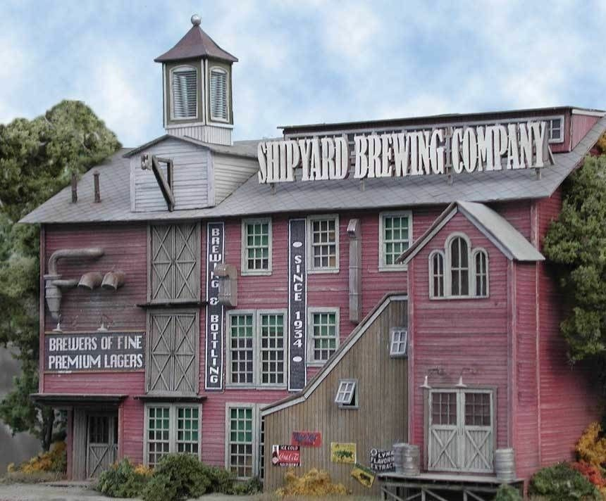 BAR MILLS BUILDINGS 851 N Shipyard Brewing Company Model Railroad Kit FREE SHIP