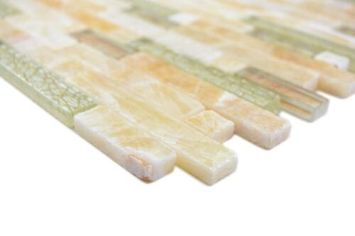 Mosaik Fliese Transluzent bernstein gold Verbund Glas 87-MV748/_f10 Matten