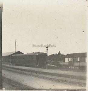 Treno Locomotiva Foto Placca Da Lente Stereo L1 Vintage
