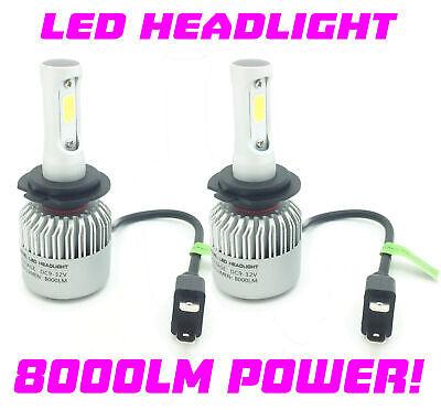 Micro H7 V12 CSP LED Headlight Bulbs Kit 8000lm For Mercedes B-Class W246 14