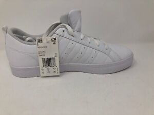 Details about Adidas Neo VS Pace Low Top Sneakers Women's Size 10 All White DA8799