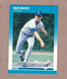 Details About 1987 Fleer Baseball Card 459 Bob Welch Dodgers