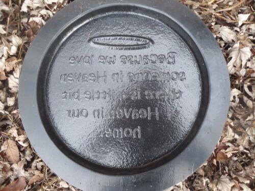 """Plastic Memorial Mold Plaster Concrete Casting 10/"""" x 3//4/"""""""