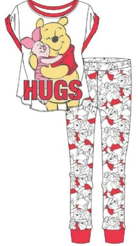 Ladies Women/'s Winnie The Pooh Pyjamas Nightwear PJs Short Sleeve 100/% Cotton