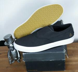 Huf Footwear Skate Schuhe Shoes Dylan Rieder Slip On Black Black Leather 13/47