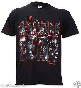 Official-The-Walking-Dead-Zombie-Logo-T-Shirt-Small-NEW-Black