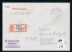 10808) Spécial R-ticket De Karlsruhe Hobby 71, Postsache K2 20.6.71-afficher Le Titre D'origine