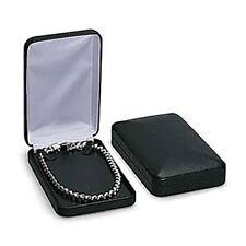 24 Black Faux Leather Necklace Boxes 4 X 7 X 1 Retail Jewelry Box Pendant