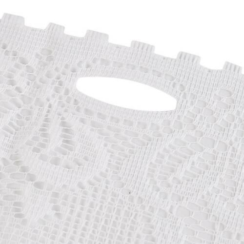 Kitchen White Lace Sheer Curtains Valance Window Tulle Semi-Sheer Curtain WA