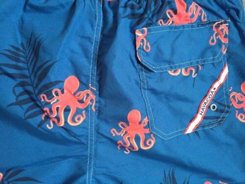 Pantaloncini Da Nuoto havacoa da uomo OCTOPUS L XL 3XL 4XL autentici nuovi contrassegni W RRP £ 95