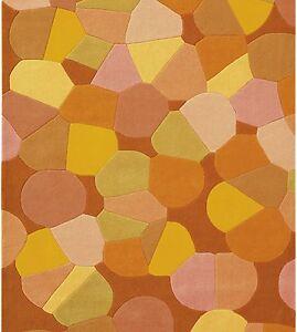 XL-quadrato-PEZZO-UNICO-arte-espina-Tappeto-4016-28-SPIRIT-Arancione-300x300-cm