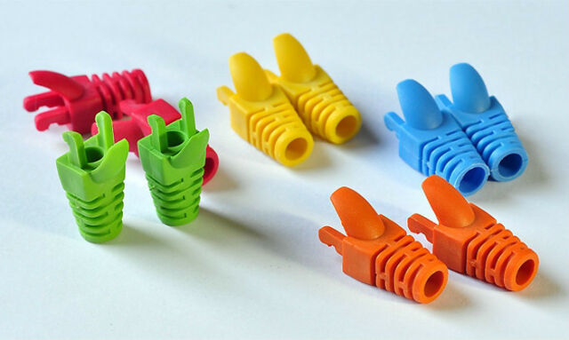 (50pcs/pack) Colorful Cable Boots Claw Type For RJ45 Cat.5e Cables O.D 5.0mm