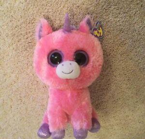 "Ty Magic Pink Unicorn Beanie Boo Buddy 9"" - Purple Tag"