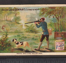 c 1884 Liebig S112 English Language Sportsman Dog Rabbit Hunt Hunting Trade Card