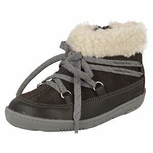 8949027bea58 Details about SALE Girls Clarks Maxi Moon Fst Grey Combi Ankle Boots G  Fitting