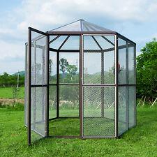 XXL Heavy Duty Outdoor Macaw Aviary Parrot Bird Reptile Cage Hexagonal  Design