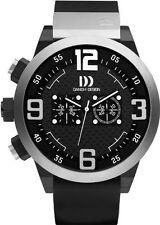 Danish Design IQ12Q1021 50mm Chronograph Black Rubber Quartz Sport Men's Watch