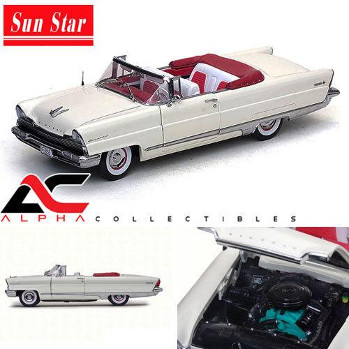 Sunstar ss-4655 1 18 1956 Lincoln Premiere Converdeible biancao Platinum Edition