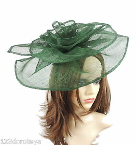 Image is loading Army-Dark-Green-Fascinator-for-Ascot-Weddings-Proms- ca2a9cb6bd6